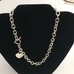 Nine West SP Heart Necklace